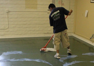 Concrete Cleaning and Polishing by Aquakor in Santa Clarita