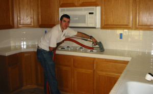 Countertop Cleaning With Aquakor