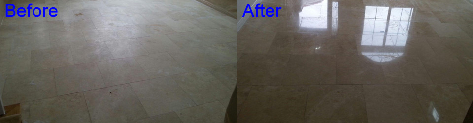 Stone Cleaning and Polishing by Aquakor in Santa Clarita